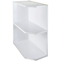 59 it kitchens gloss white open end base unit 300mm top for Wickes kitchen carcass