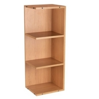 75 cooke lewis tall open end wall unit oak 300mm top for Wickes kitchen carcass