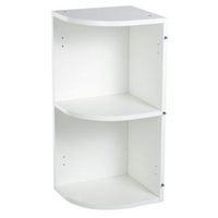 75 cooke lewis white curved end wall cabinet h 720 x for Wickes kitchen carcass